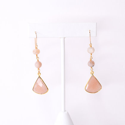 Peach Slice Earrings