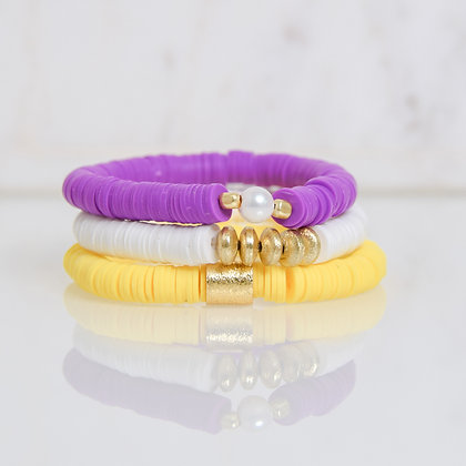 Geaux Tigers Heishi Stack