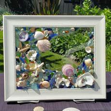 Tidal Pool Sea Glass Art $85