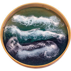 Ocean Waves Bamboo Serving Tray   $125