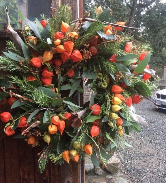 Extra Large Japanese Lantern Wreath