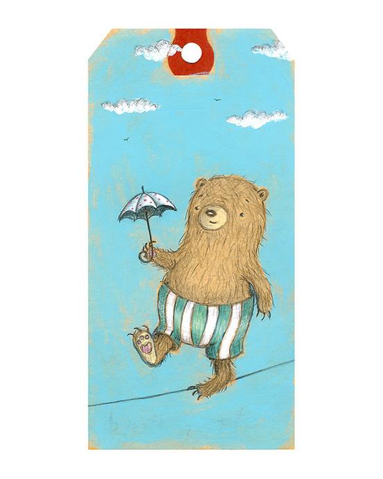 Tightrope bear