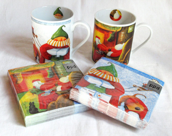 Mugs and napkins