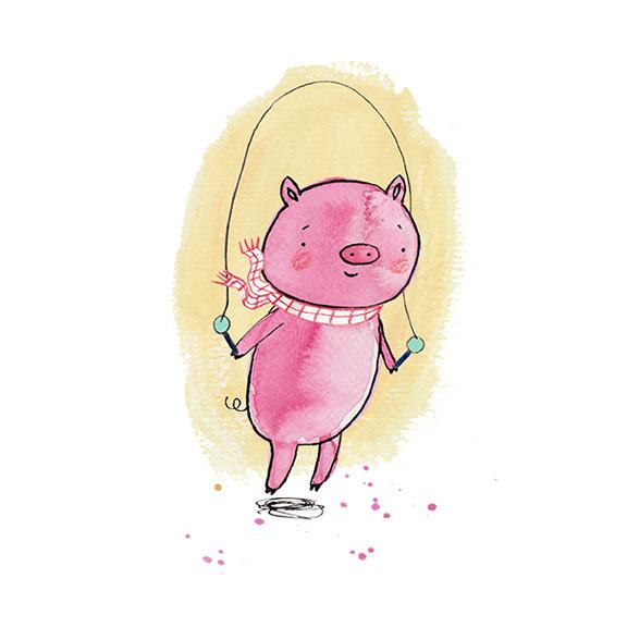 Skipping piggy