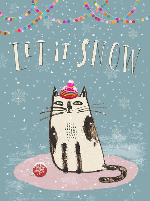 Let it snow cat
