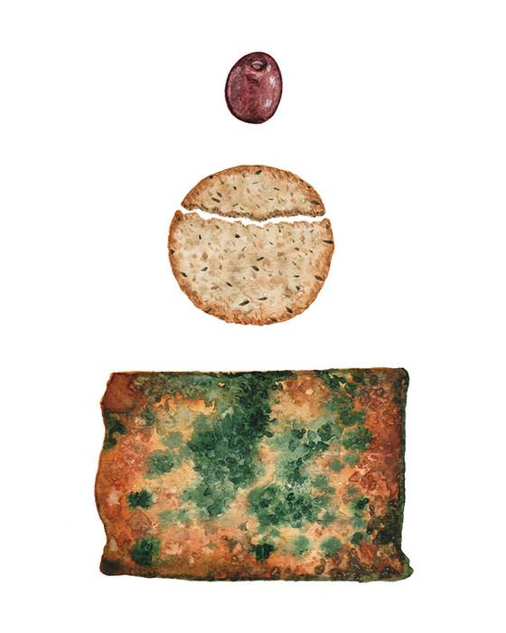 Shropshire Blue and oatcake