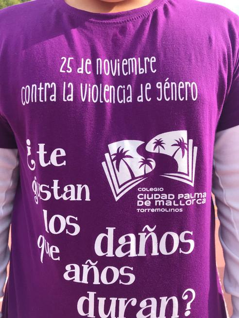 Nuestra camiseta contra la violencia