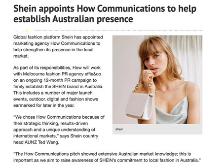 SHEIN appoints How Communications
