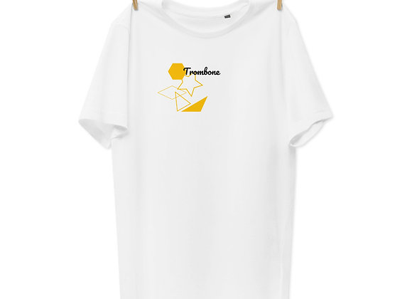 Genesis- Style Minimalist Trombone Unisex Organic Cotton T-Shirt