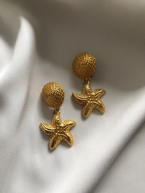 Клипсы с морскими звёздами