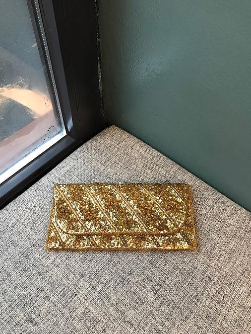 Клатч золотой