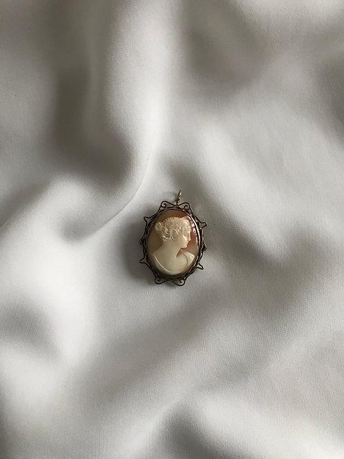 Камея кулон-брошь