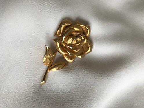 Брошь-роза