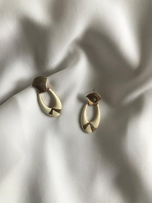 Серьги-дорнокеры с эмалью
