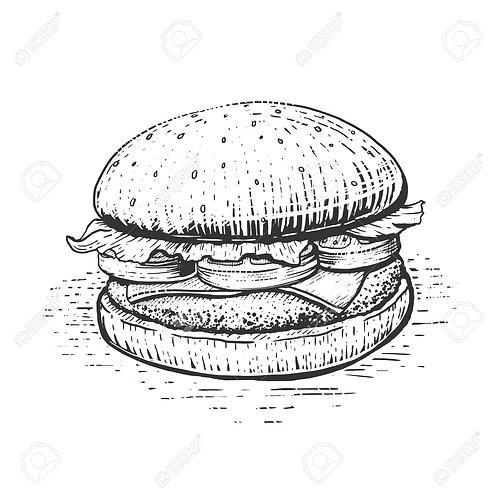 Sticky Chicken Burger