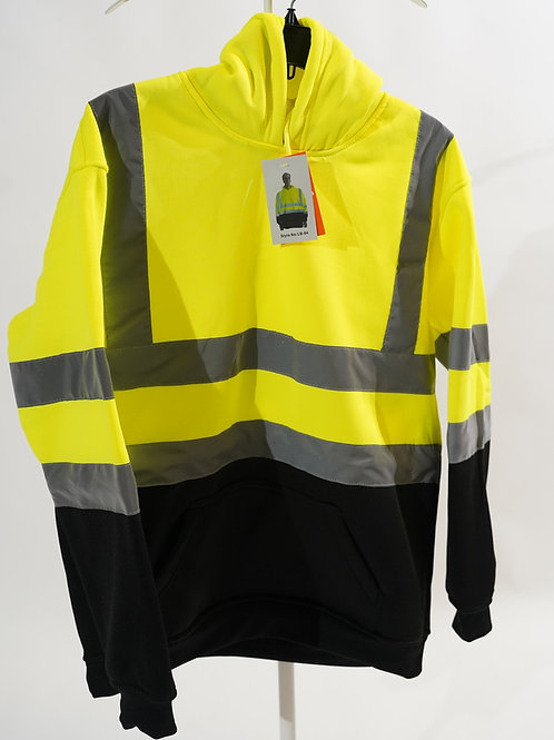 Hi Viz Hoodies For Workers Polyester Made Pullover Work Wear Safety Hoodies