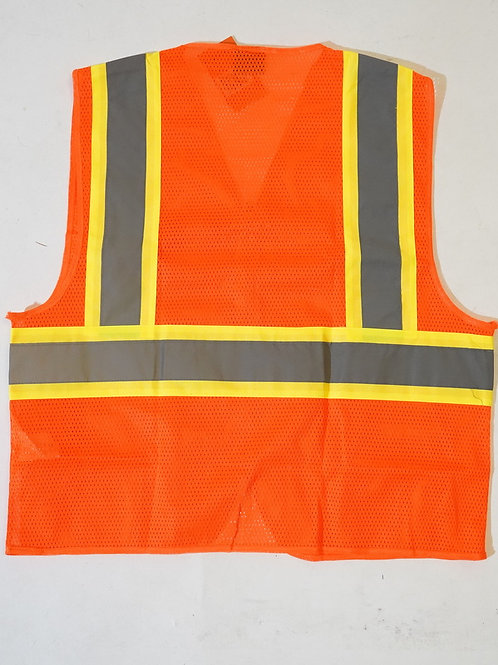 High Visibility Two-pockets Reflective Hi Vis Safety Vest For Workers
