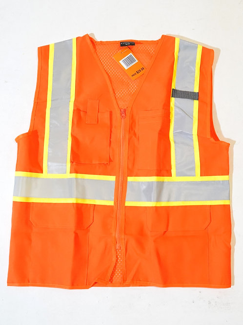 High Visibility Multi-pockets Reflective Hi Vis Safety Vest For Workers