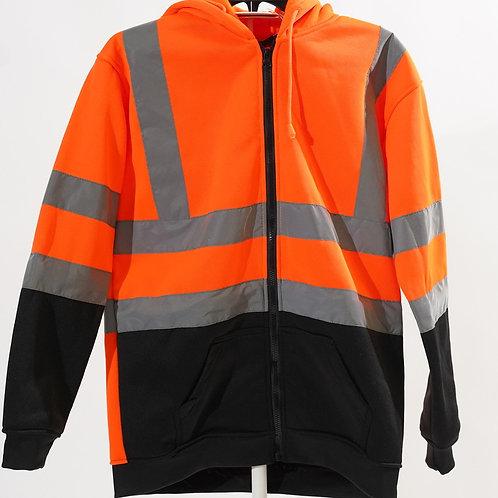 Hi Viz Zipper Safety hoodie,  WorkWear.