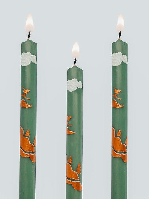 Golden Slopes Candles