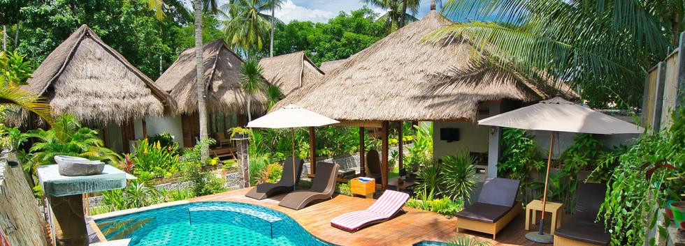 Pool, Restaurant, Palm bungalows