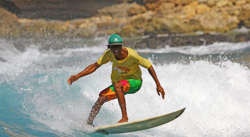 Surfing is fun