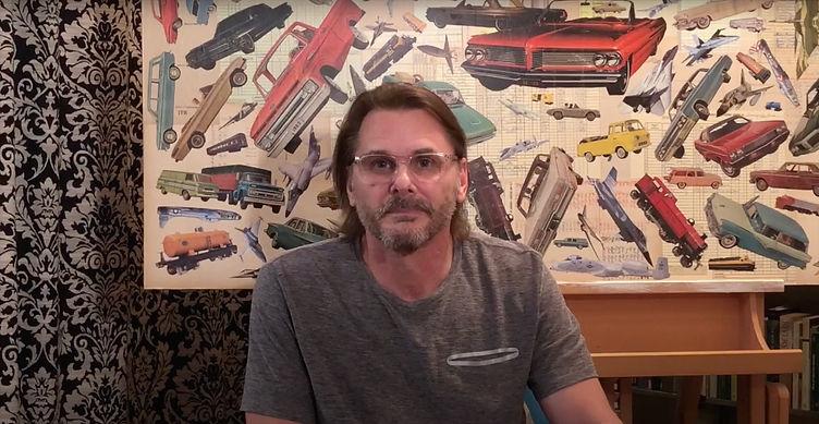 Glen in his home studio.