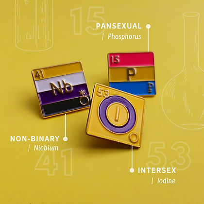 Intersex Pride Enamel Pins