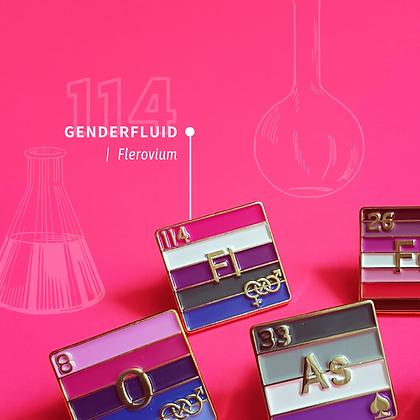 Genderfluid Pride Enamel Pins