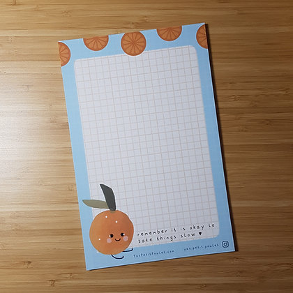 Kawaii Orange Memopad / Letter sheets