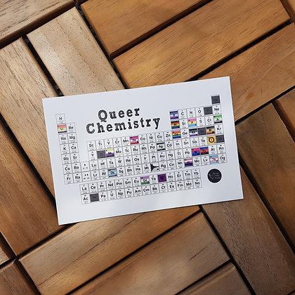 Queer Chemistry Periodic Table Postcard