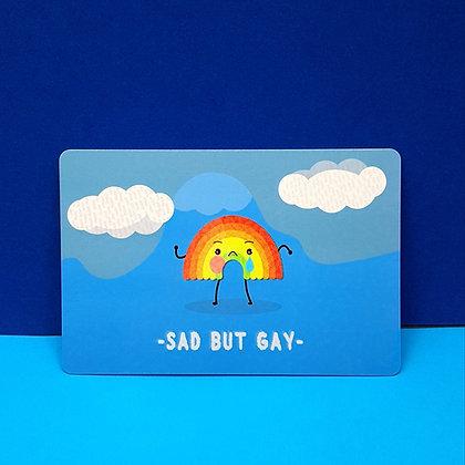 Sad but Gay | Postcard