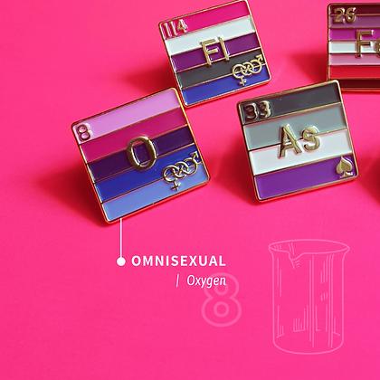 Omnisexual Pride Enamel Pins