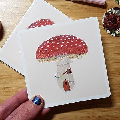 LGBT Pride Mushroom House | Holiday Card