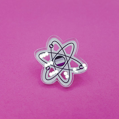 Asexual Pride Atom | Acrylic Badge