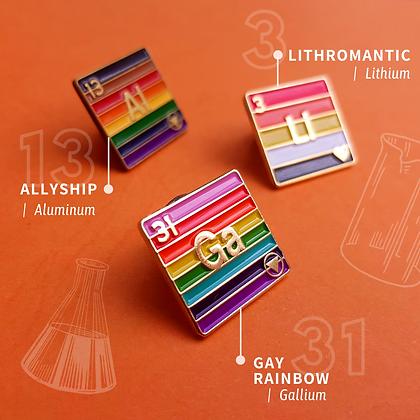 Gay Pride Enamel Pins