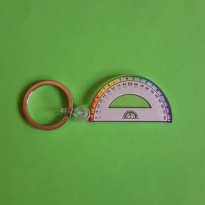 Definitely not Straight | Protractor Pride Keychain