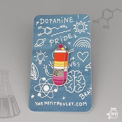 Lesbian Dopamine Badge