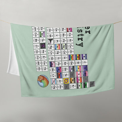 Queer Chemistry Periodic Table   Throw Blanket