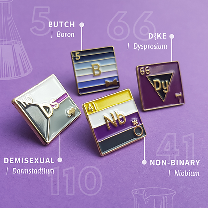 Butch Lesbian Pride Enamel Pins