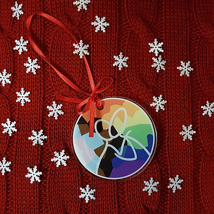 Pride Kiss Holiday Ornament