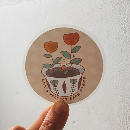 Let's Protect Each Other | Sticker