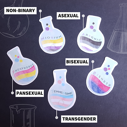 Flask Stickers | Queer Chemistry