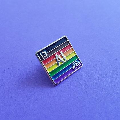 Ally - Aluminum   Badge