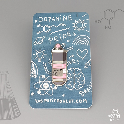 Demi-girl Dopamine Badge