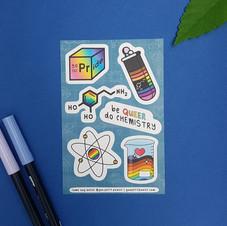 Be Queer Do Chemistry Sticker Sheet.jpg