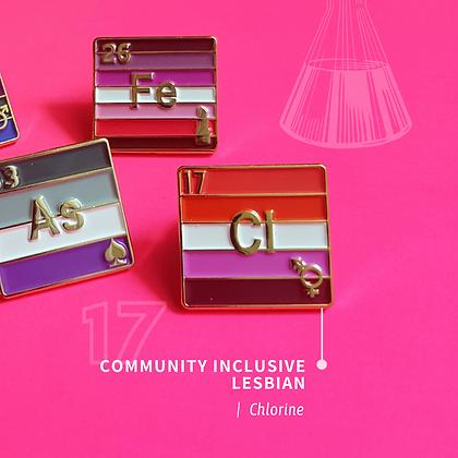 Inclusive Lesbian Pride Enamel Pins