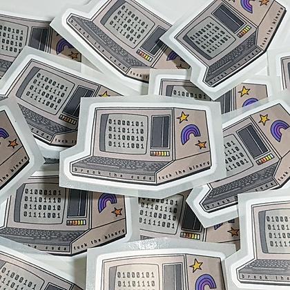 Non-Binary Code | Fuck the Binary | Sticker