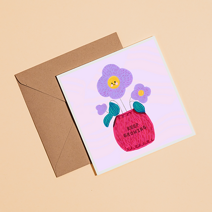 Keep Growing | Affirmation Card