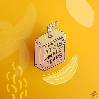 'YT Cis Male Tears Juice' Enamel Pin